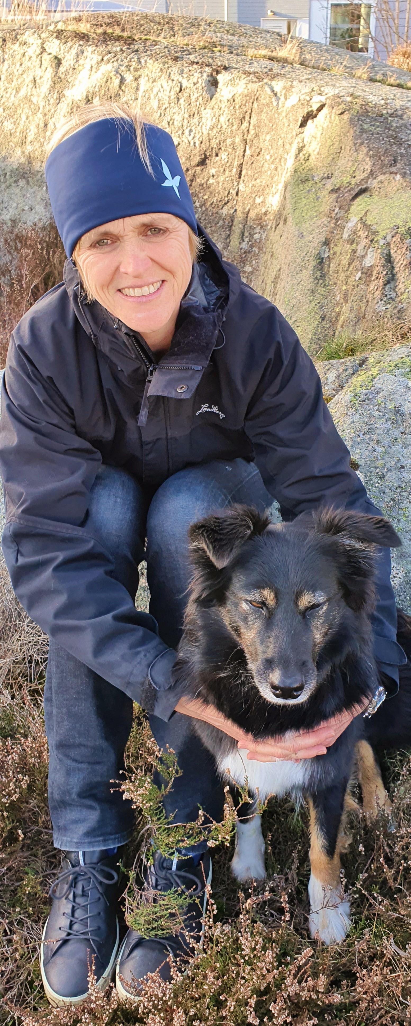 Ingela Qvirist och hunden Abby
