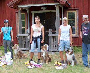 Förare med hundar på prispallen, Guldtackan 2014